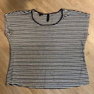 Talbots Linen Blend T-Shirt with bling